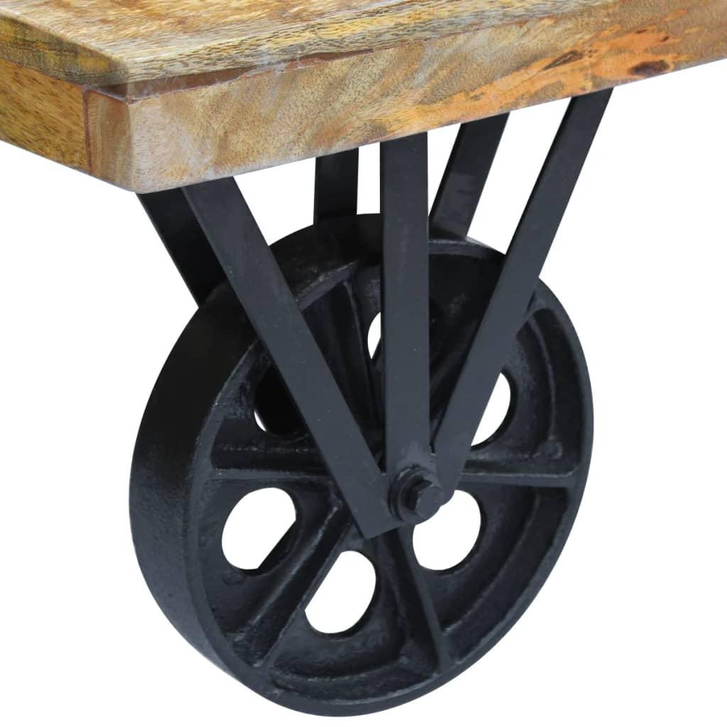 acheter vidaxl table basse en bois de manguier 120 x 60 x 30 cm pas cher. Black Bedroom Furniture Sets. Home Design Ideas