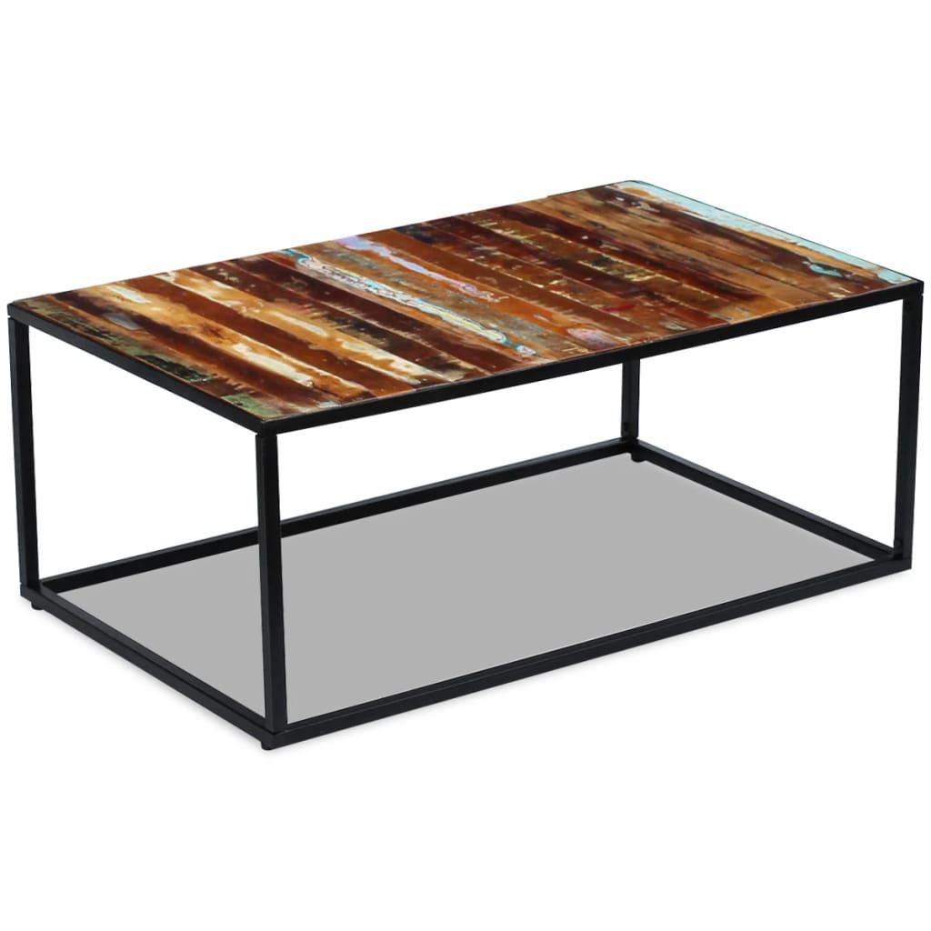 acheter vidaxl table basse bois de r cup ration massif 100 x 60 x 40 cm pas cher. Black Bedroom Furniture Sets. Home Design Ideas