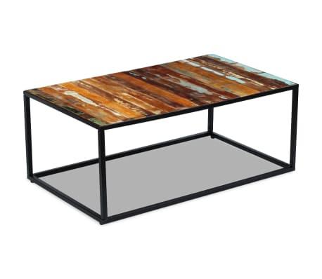 Acheter vidaxl table basse bois de r cup ration massif 100 for Table basse recuperation