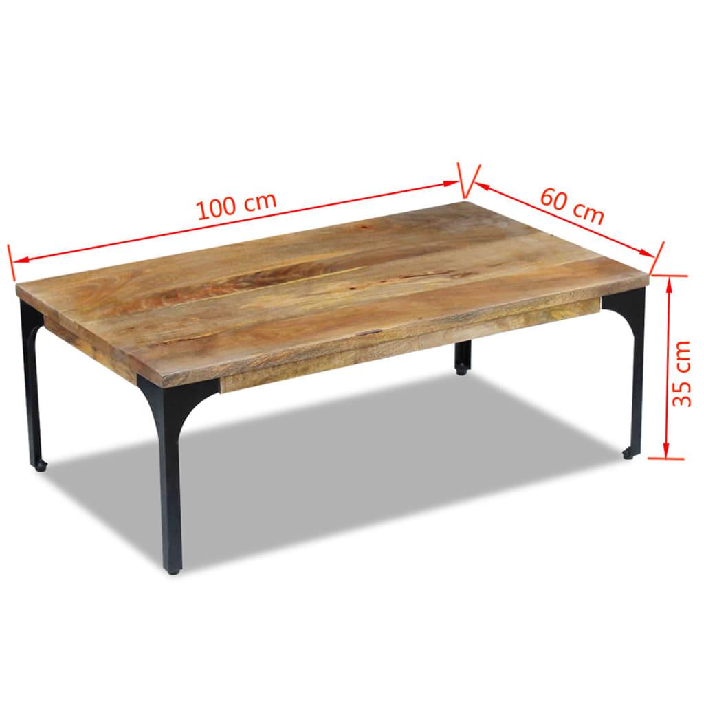 vidaxl stolik kawowy z drewna mango 100x60x35 cm sklep internetowy. Black Bedroom Furniture Sets. Home Design Ideas