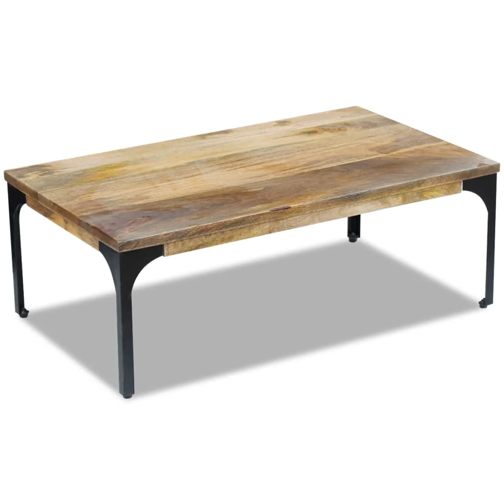 Acheter vidaxl table basse bois de manguier 100 x 60 x 35 for Table de 100