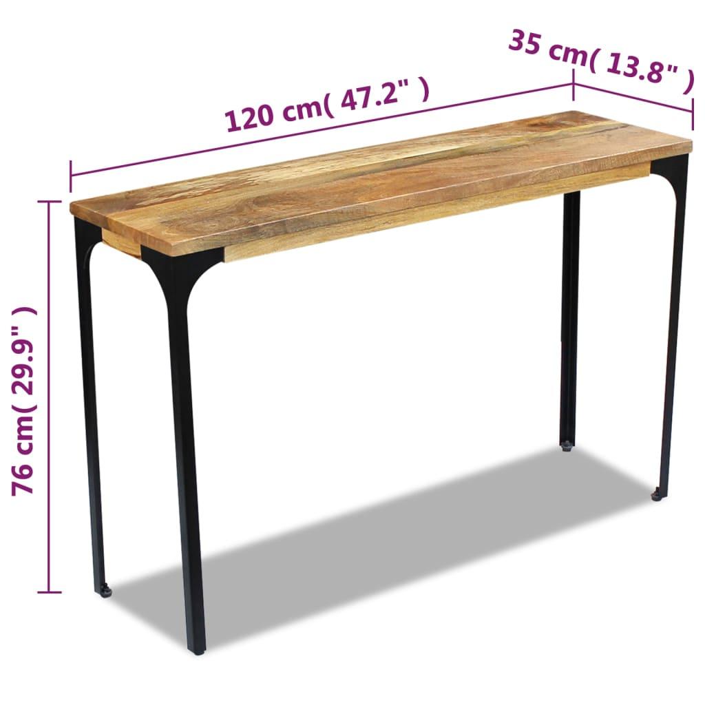 acheter vidaxl table console bois de manguier 120 x 35 x 76 cm pas cher. Black Bedroom Furniture Sets. Home Design Ideas