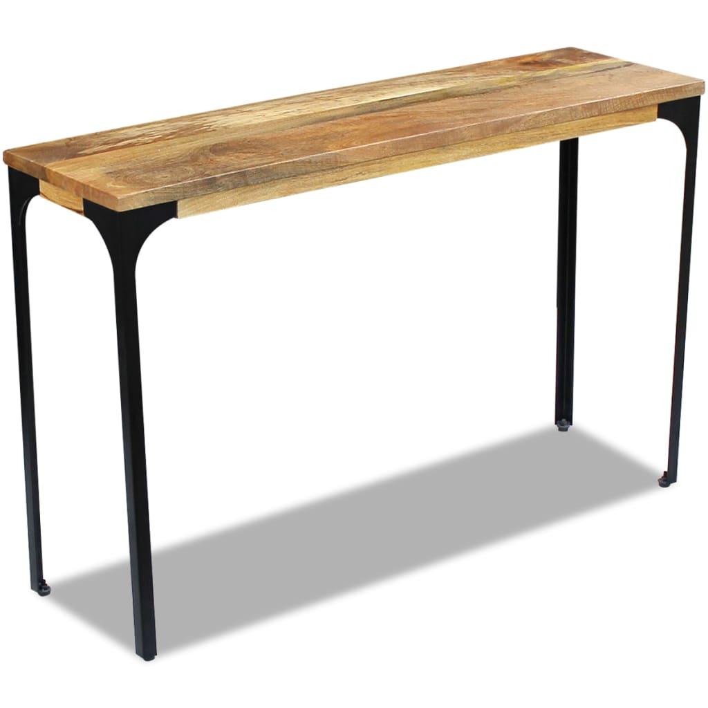 vidaXL 120x35x76 cm Mangófa konzolasztal
