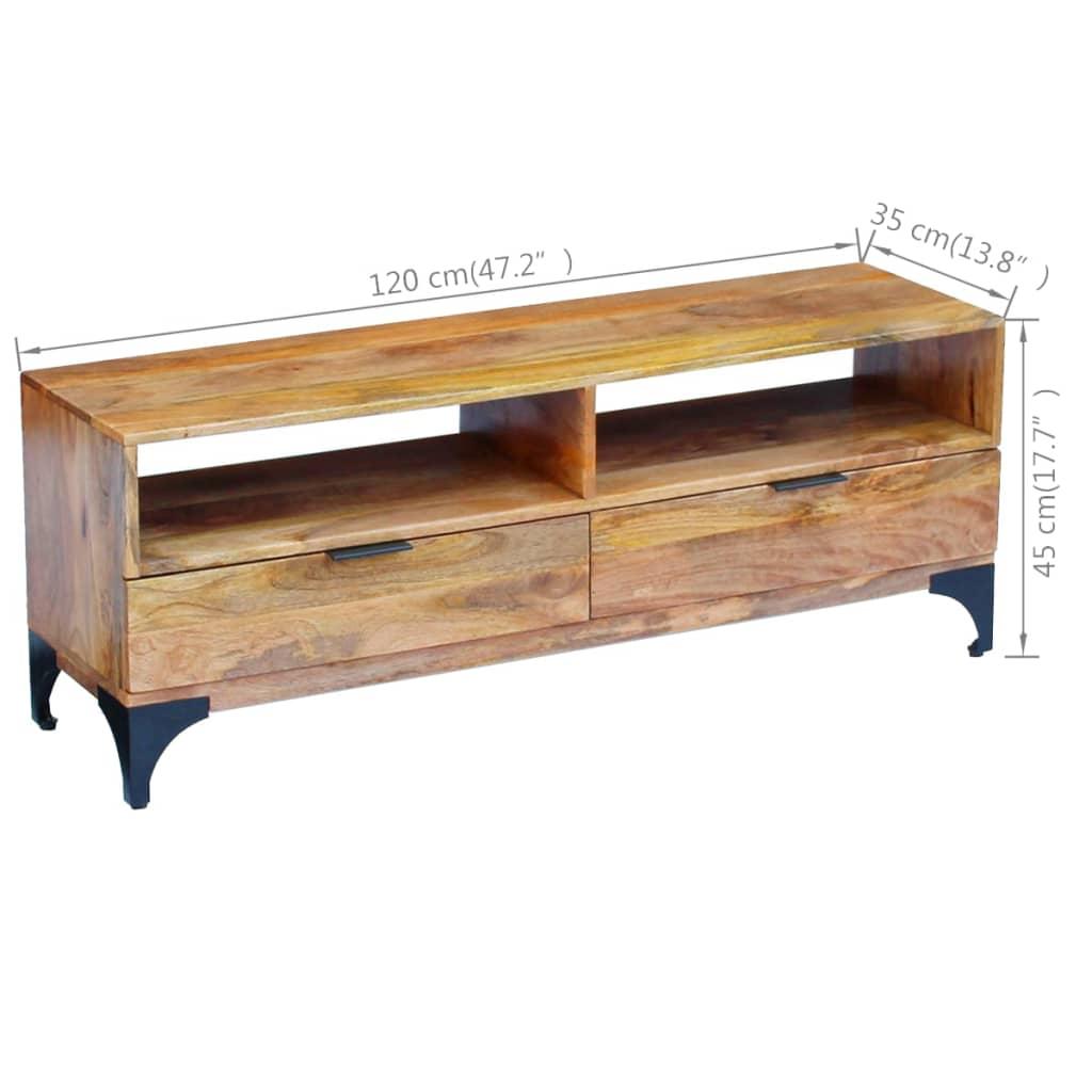 Articoli per vidaxl mobile porta tv in legno di mango - Porta tv in legno ...