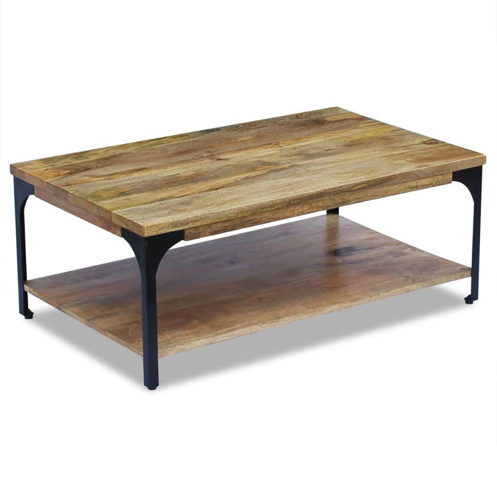 Vidaxl coffee table mango wood 100x60x38 cm - Table largeur 60 cm ...