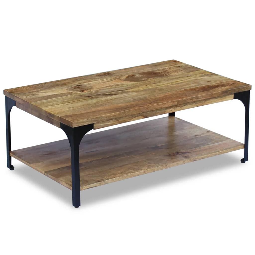 vidaXL mangófa dohányzóasztal 100x60x38 cm