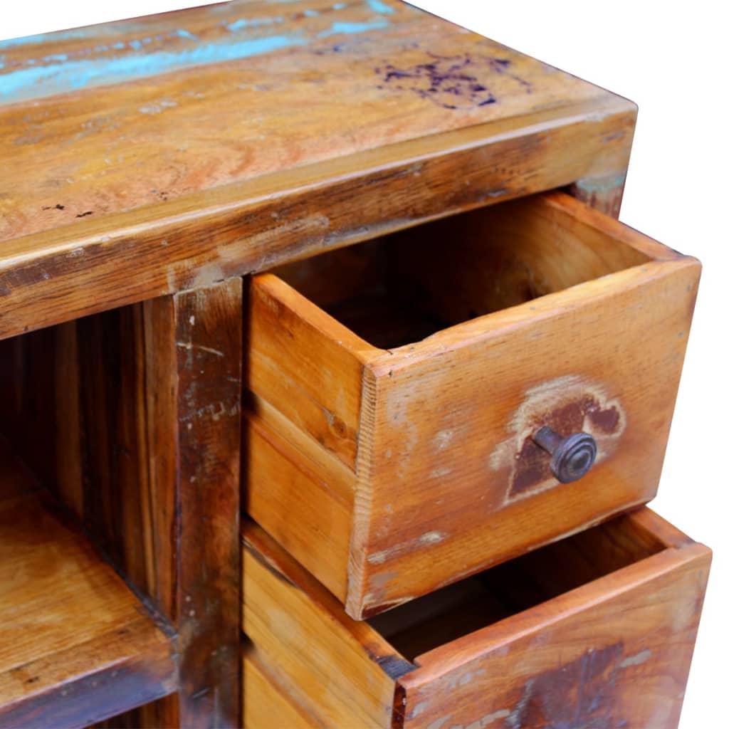Vidaxl sideboard solid reclaimed wood 60x30x80 cm vidaxl for Sideboard 80 cm tief
