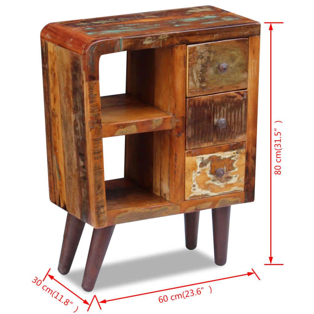 Vidaxl sideboard solid reclaimed wood 60x30x80 cm vidaxl for Sideboard 80 cm