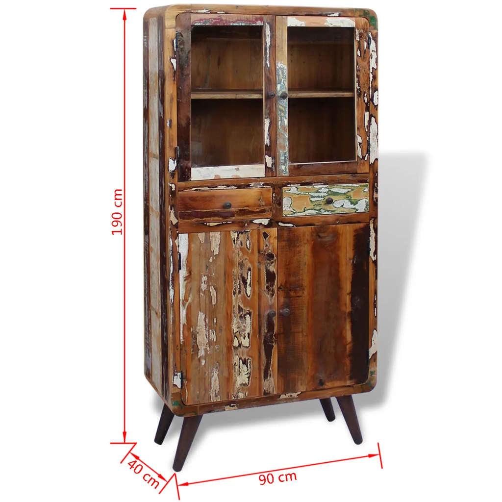 acheter vidaxl placard bois de r cup ration massif 90 x 40 x 190 cm pas cher. Black Bedroom Furniture Sets. Home Design Ideas