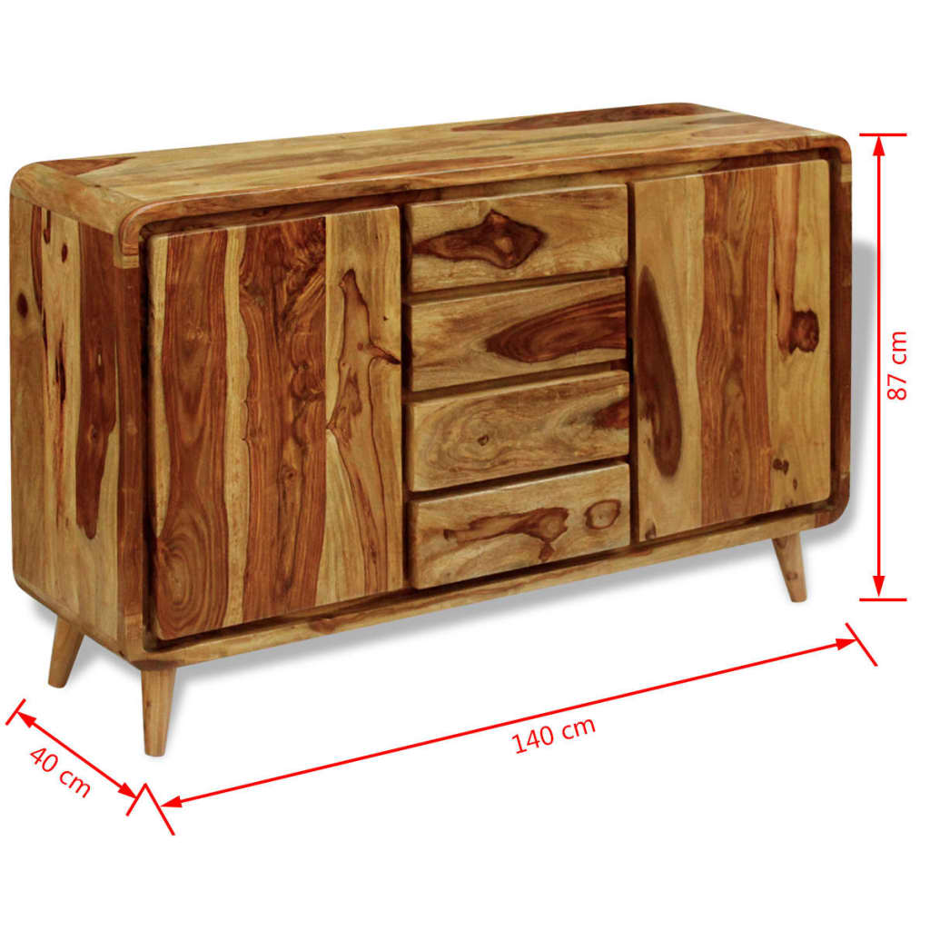 Vidaxl sideboard sheesham wood 140x40x87 cm for Sideboard x7
