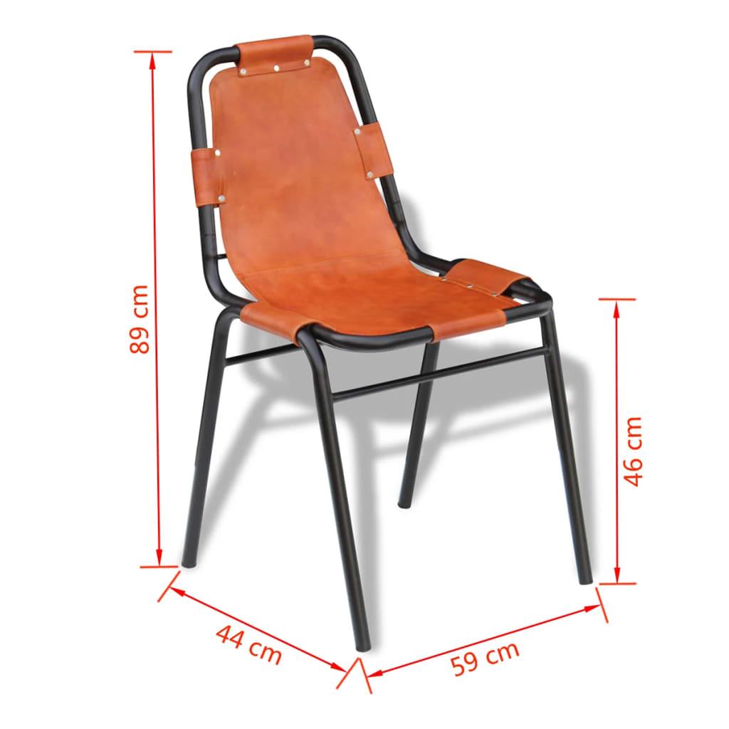 Vidaxl sillas de comedor 2 unidades marr n 59x44x89 cm for Sillas comedor marron