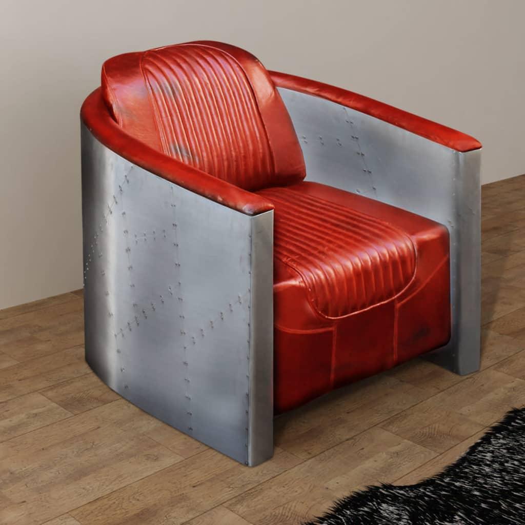 vidaXL 79x71x90 cm világosbarna valódi bőr kagyló fotel