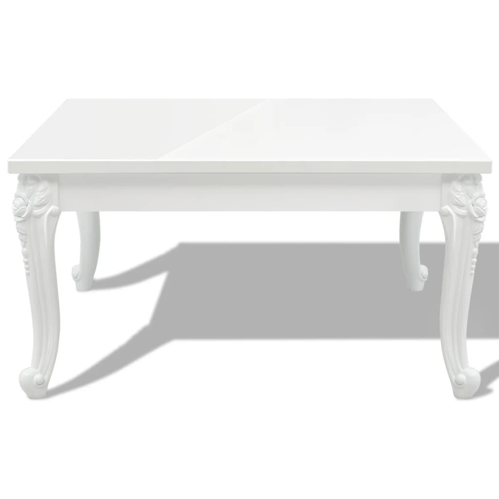Acheter vidaxl table basse 80 x 80 x 42 cm laqu e blanc - Table basse laquee blanc pas cher ...