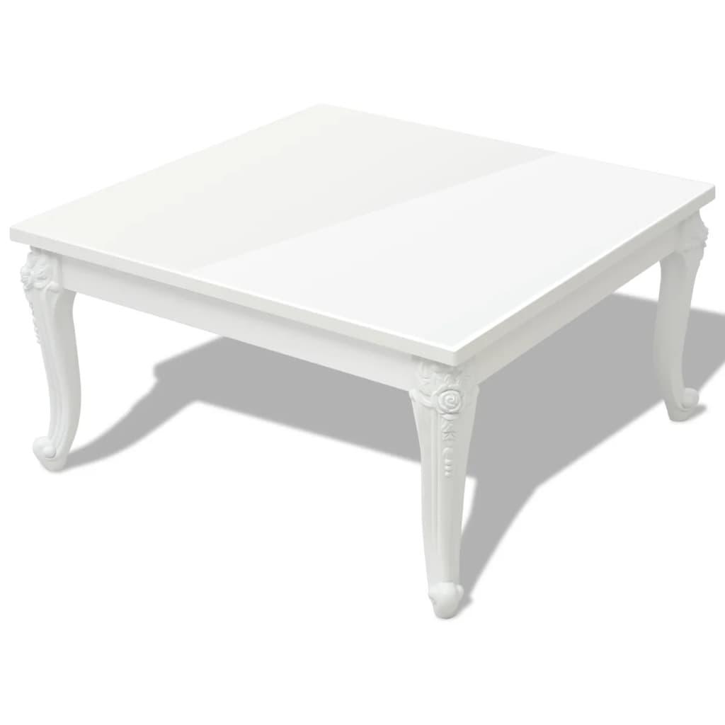 vidaxl couchtisch 80x80x42 cm hochglanz wei g nstig kaufen. Black Bedroom Furniture Sets. Home Design Ideas