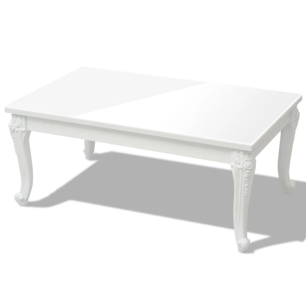 vidaXL Salontafel 100 x 60 42 cm hoogglans wit