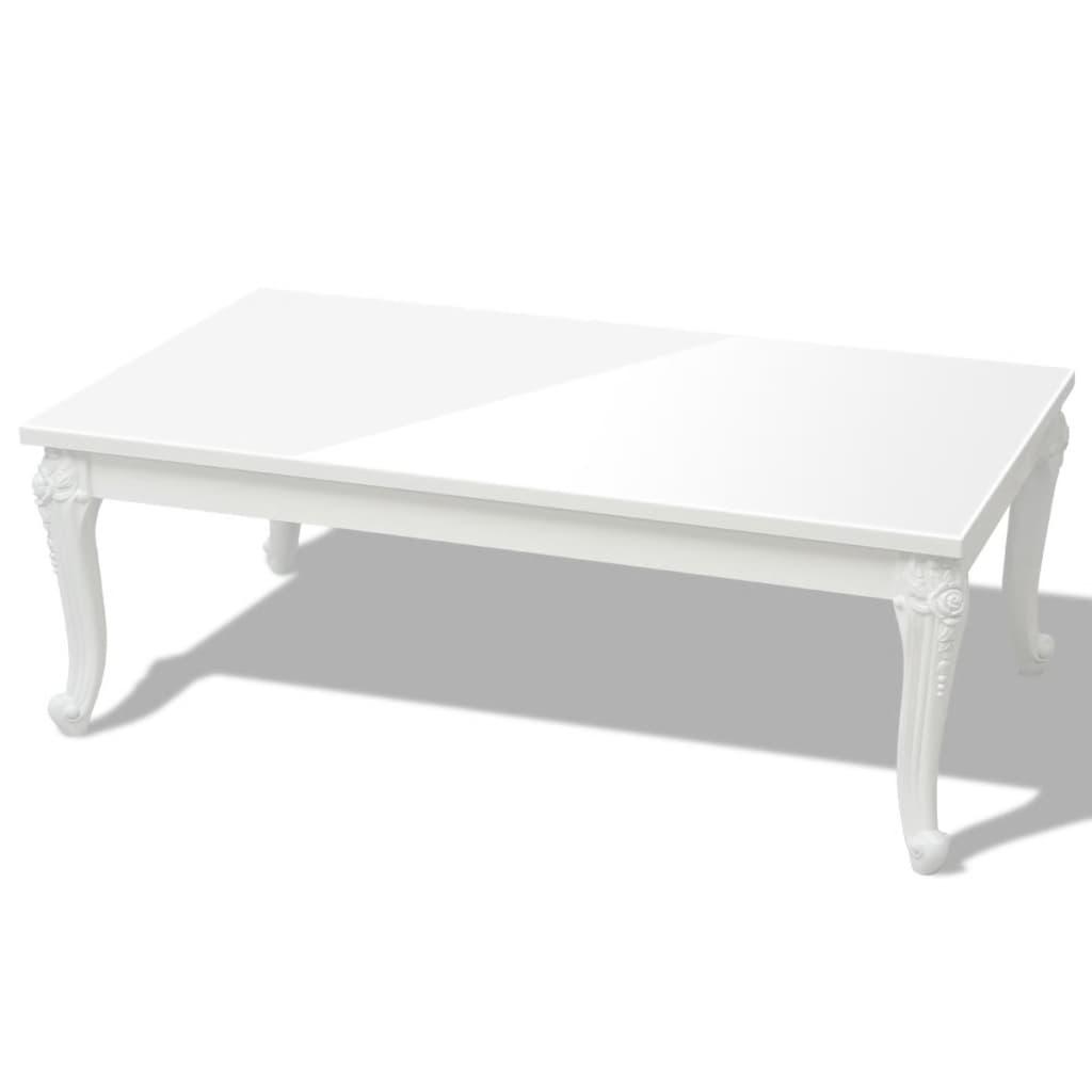 vidaXL Salontafel 120x70x42 cm hoogglans wit