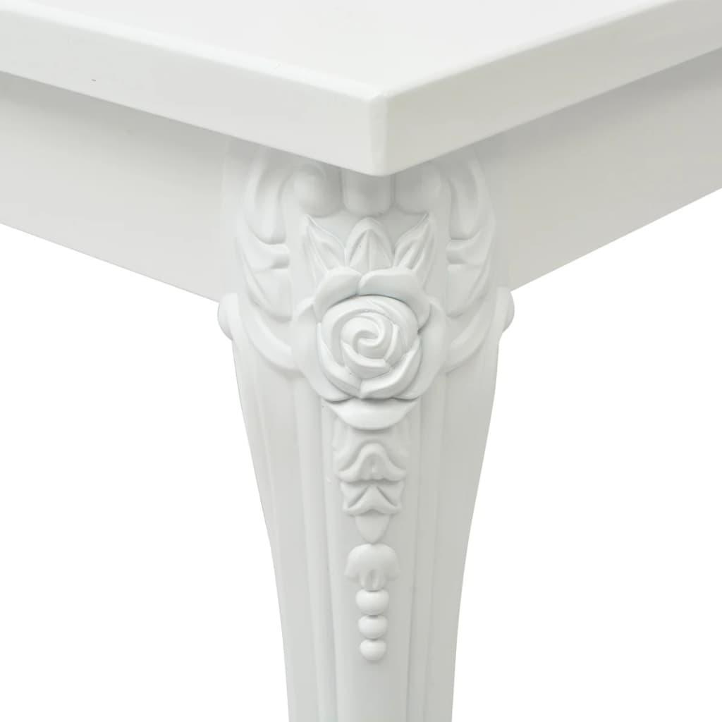 vidaXL-Mesa-de-Comedor-Rectangular-Dimensiones-120x70x76-Color-Blanco-Brillante