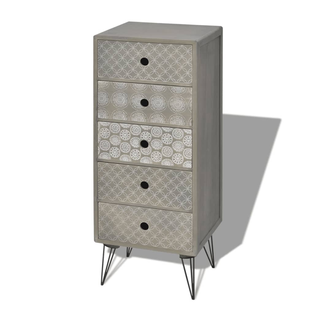 la boutique en ligne vidaxl armoire de rangement avec 5. Black Bedroom Furniture Sets. Home Design Ideas