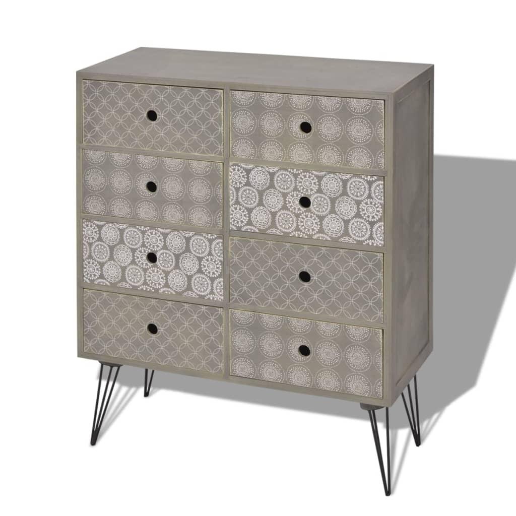 vidaxl sideboard schrank kommode schubladen kabinett anrichte retro design grau ebay. Black Bedroom Furniture Sets. Home Design Ideas