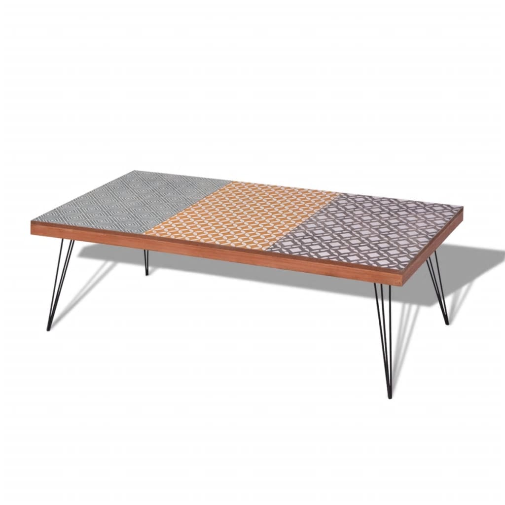 vidaXL-Coffee-Table-120x60x38cm-Brown-Side-End-Living-Room-Home-Furniture