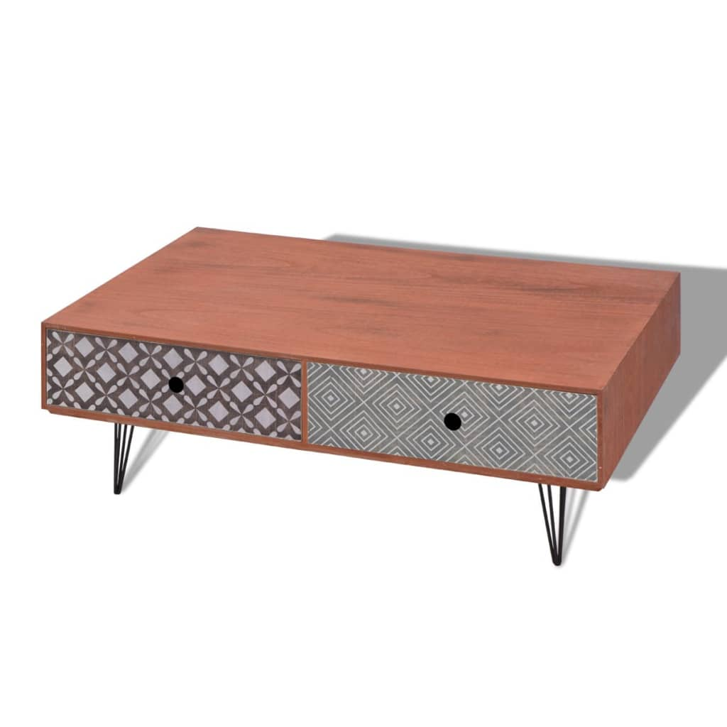 Acheter vidaxl table basse 100 x 60 x 35 cm marron pas for Table cuisine 60 x 100