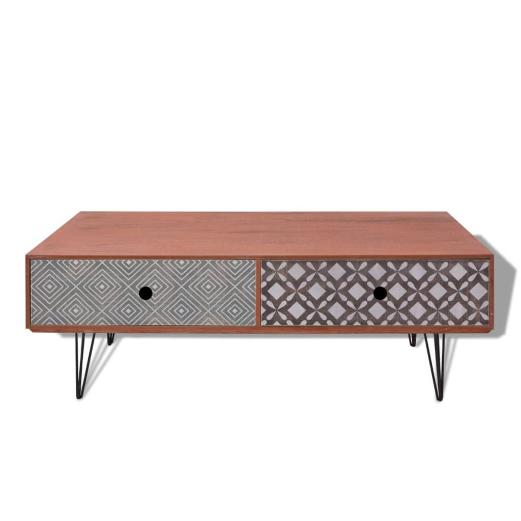 acheter vidaxl table basse 100 x 60 x 35 cm marron pas cher. Black Bedroom Furniture Sets. Home Design Ideas