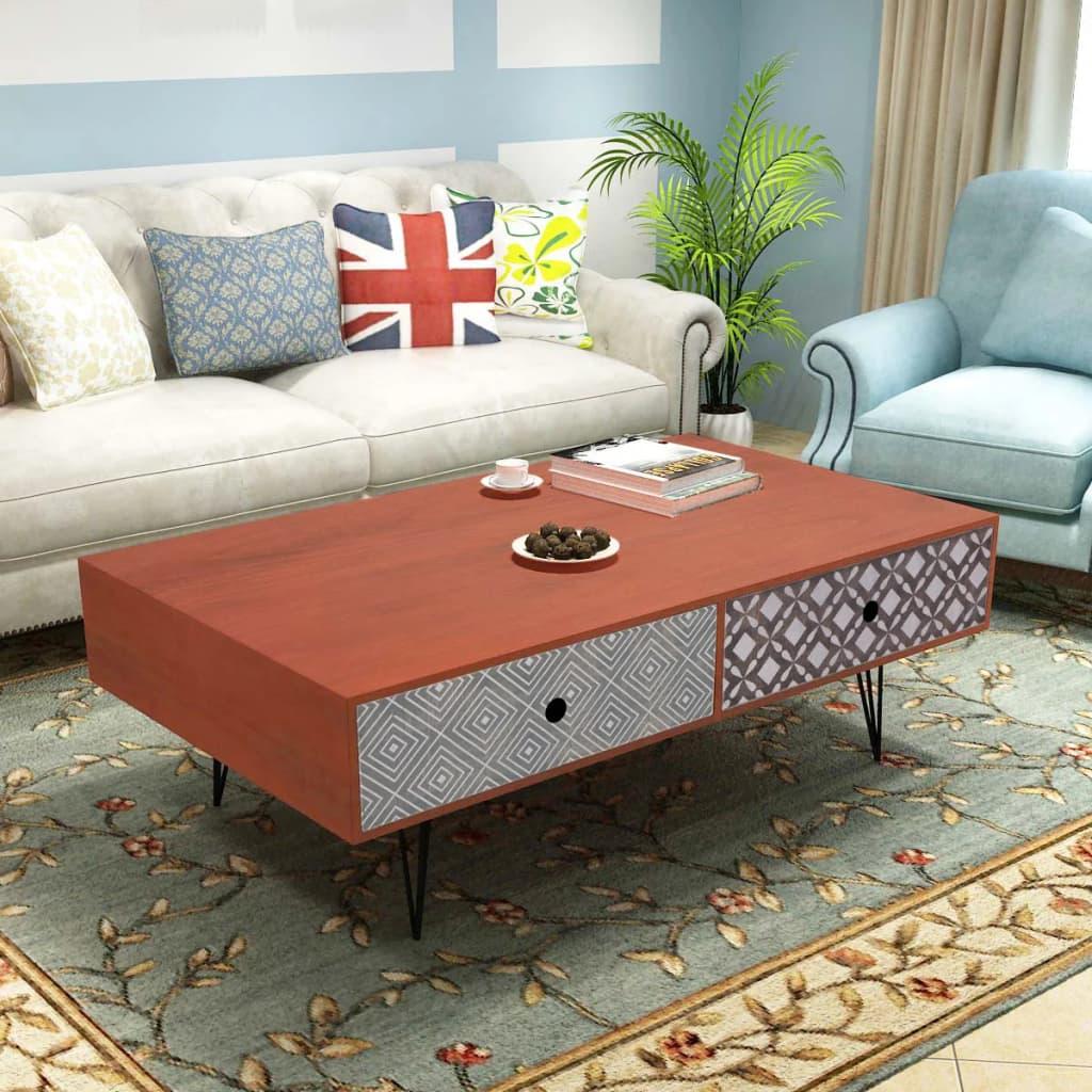 la boutique en ligne vidaxl table basse 100 x 60 x 35 cm marron. Black Bedroom Furniture Sets. Home Design Ideas