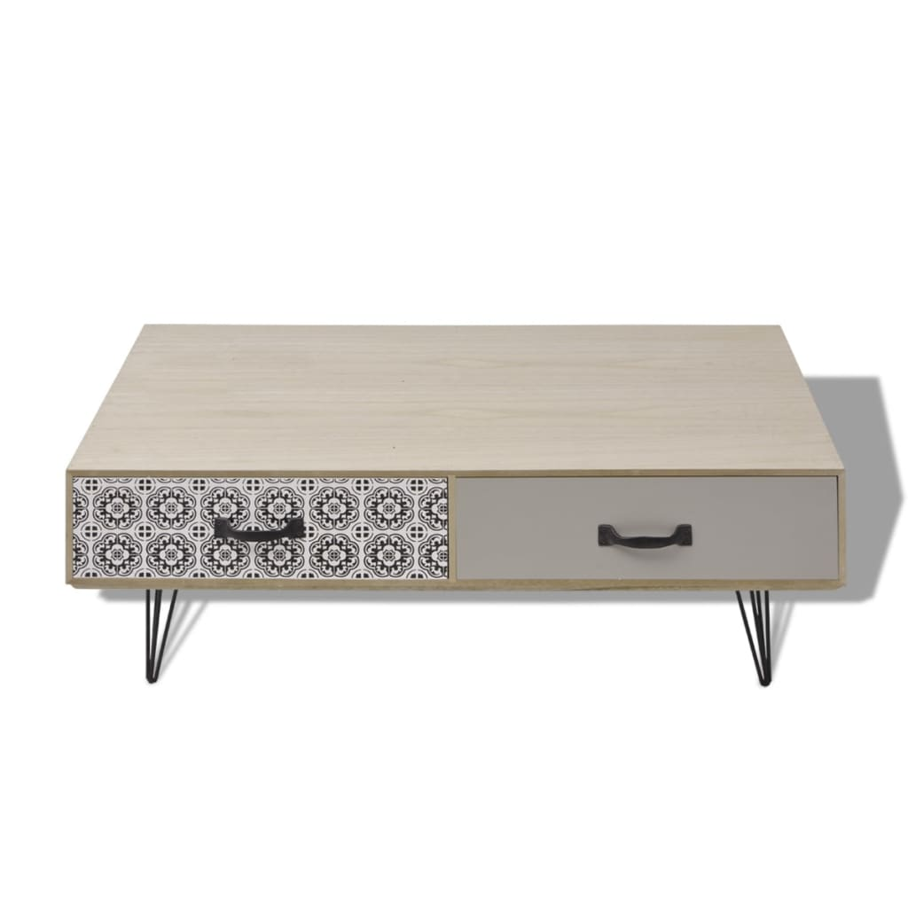 acheter vidaxl table basse 100 x 60 x 35 cm beige pas cher. Black Bedroom Furniture Sets. Home Design Ideas