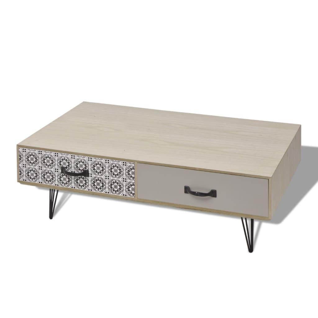 vidaxl couchtisch 100x60x35 cm beige g nstig kaufen. Black Bedroom Furniture Sets. Home Design Ideas