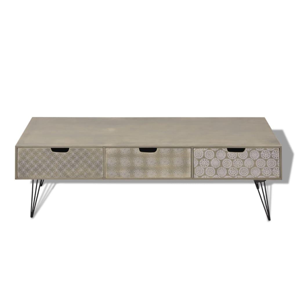Acheter vidaxl meuble tv avec 3 tiroirs 120 x 40 x 36 cm for Meuble tiroir 40 cm