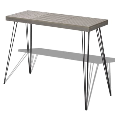 "vidaXL Console Table 35.4""x11.8""x28"" Gray[2/7]"