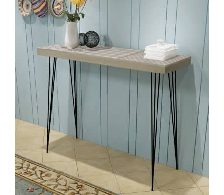"vidaXL Console Table 35.4""x11.8""x28"" Gray"