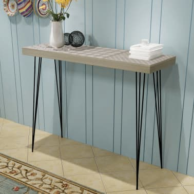 "vidaXL Console Table 35.4""x11.8""x28"" Gray[1/7]"