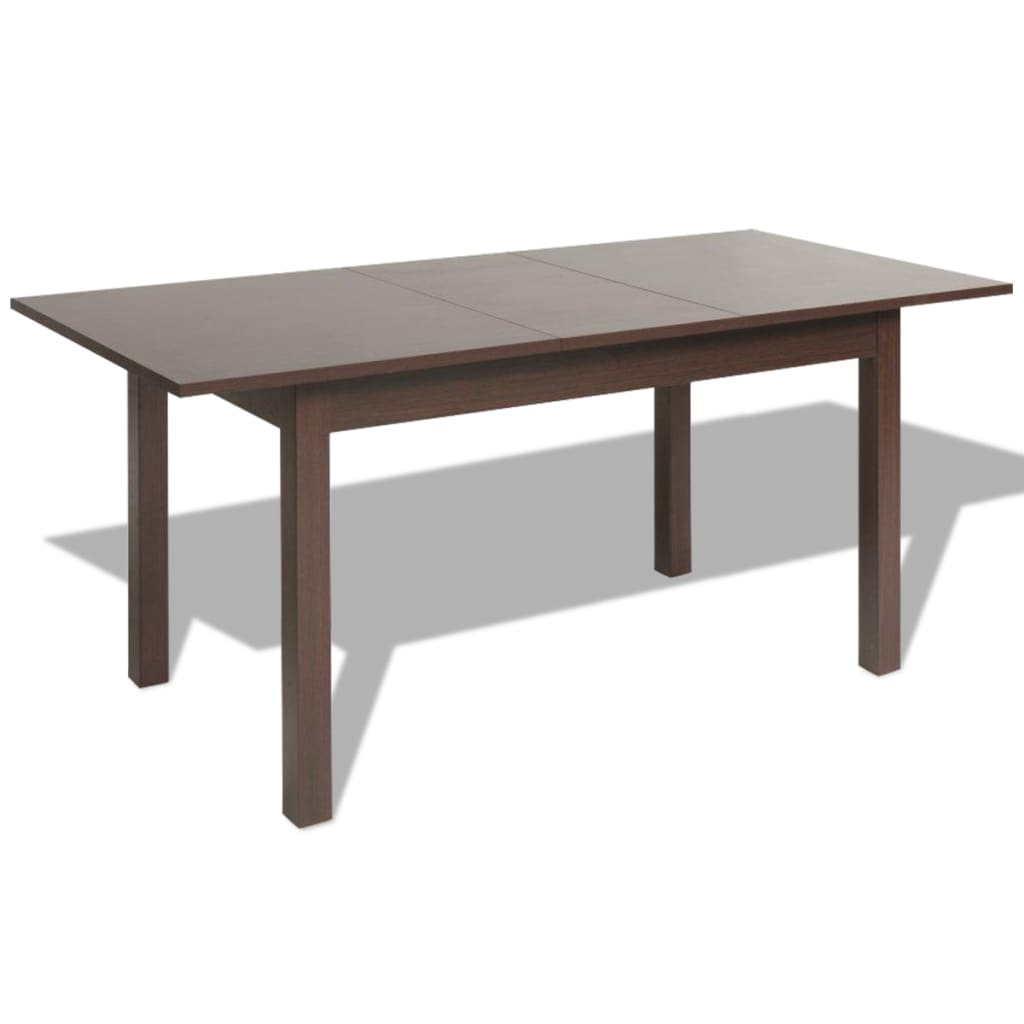 Acheter vidaxl table extensible de salle manger marron for Table a manger 120 cm extensible