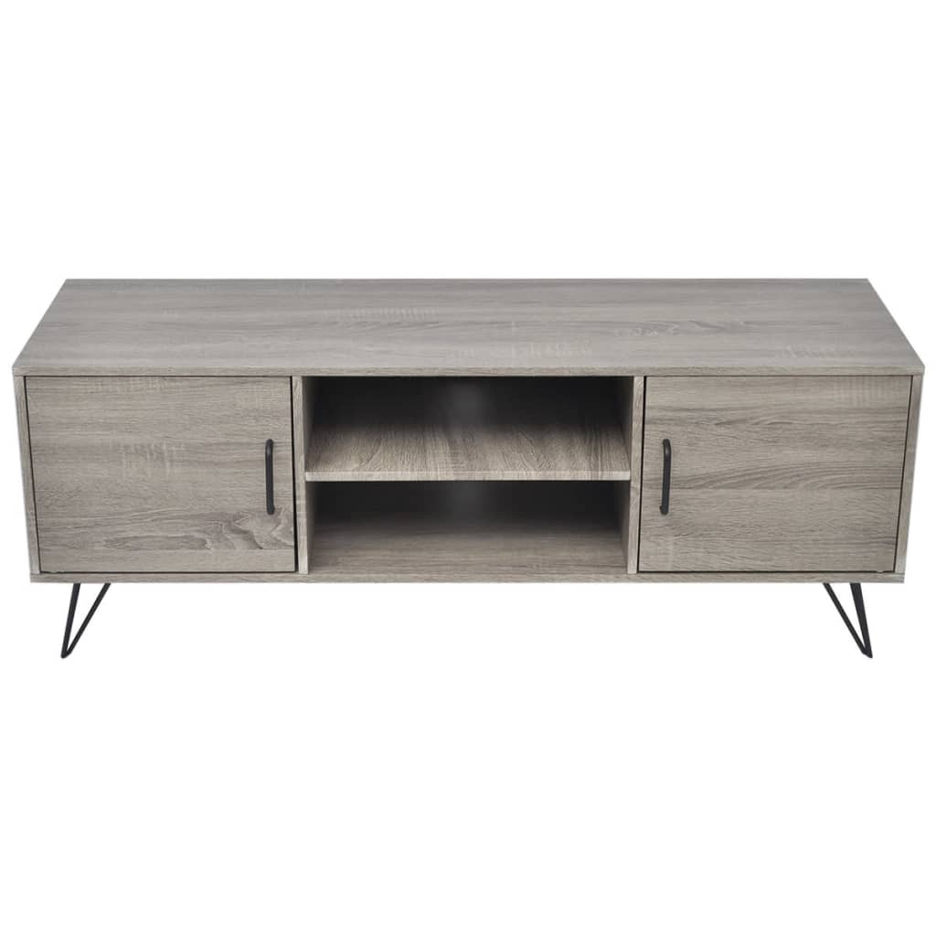acheter vidaxl meuble tv 120 x 40 x 45 cm gris pas cher. Black Bedroom Furniture Sets. Home Design Ideas