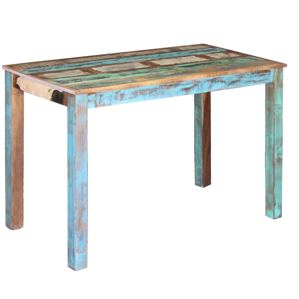 vidaXL 115x60x76 cm Tömör újrahasznosított fa étkezőasztal