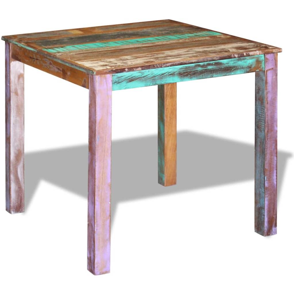 Vidaxl mesa de comedor madera reciclada maciza 80x82x76 cm - Mesa madera reciclada ...