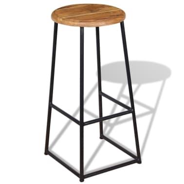 vidaXL Barové stoličky, 2 ks, masívne teakové drevo[3/9]
