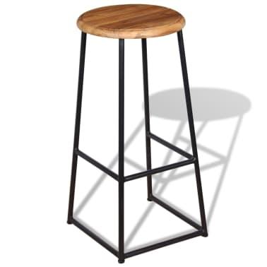 vidaXL Barové stoličky, 2 ks, masívne teakové drevo[4/9]