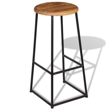 vidaXL Barové stoličky, 2 ks, masívne teakové drevo[6/9]