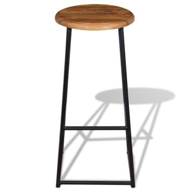 vidaXL Barové stoličky, 2 ks, masívne teakové drevo[7/9]