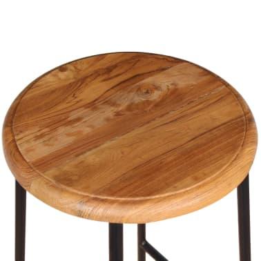 vidaXL Barové stoličky, 2 ks, masívne teakové drevo[8/9]