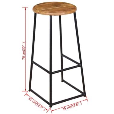 vidaXL Barové stoličky, 2 ks, masívne teakové drevo[9/9]