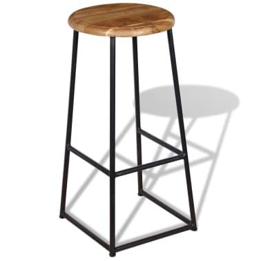 vidaXL Barové stoličky, 2 ks, masívne teakové drevo[2/9]