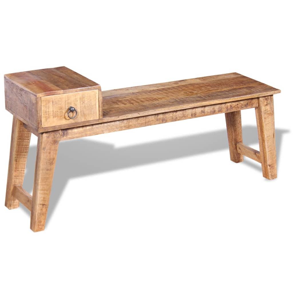 vidaxl sitzbank mit schublade massivholz mango 120x36x60 cm g nstig kaufen. Black Bedroom Furniture Sets. Home Design Ideas
