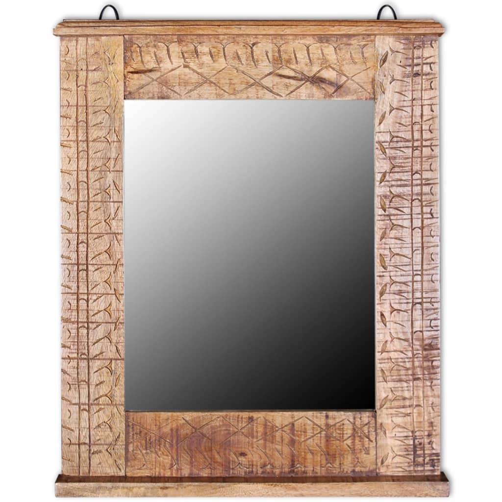 Acheter vidaxl meuble de salle de bain avec miroir bois for Acheter porte meuble salle de bain