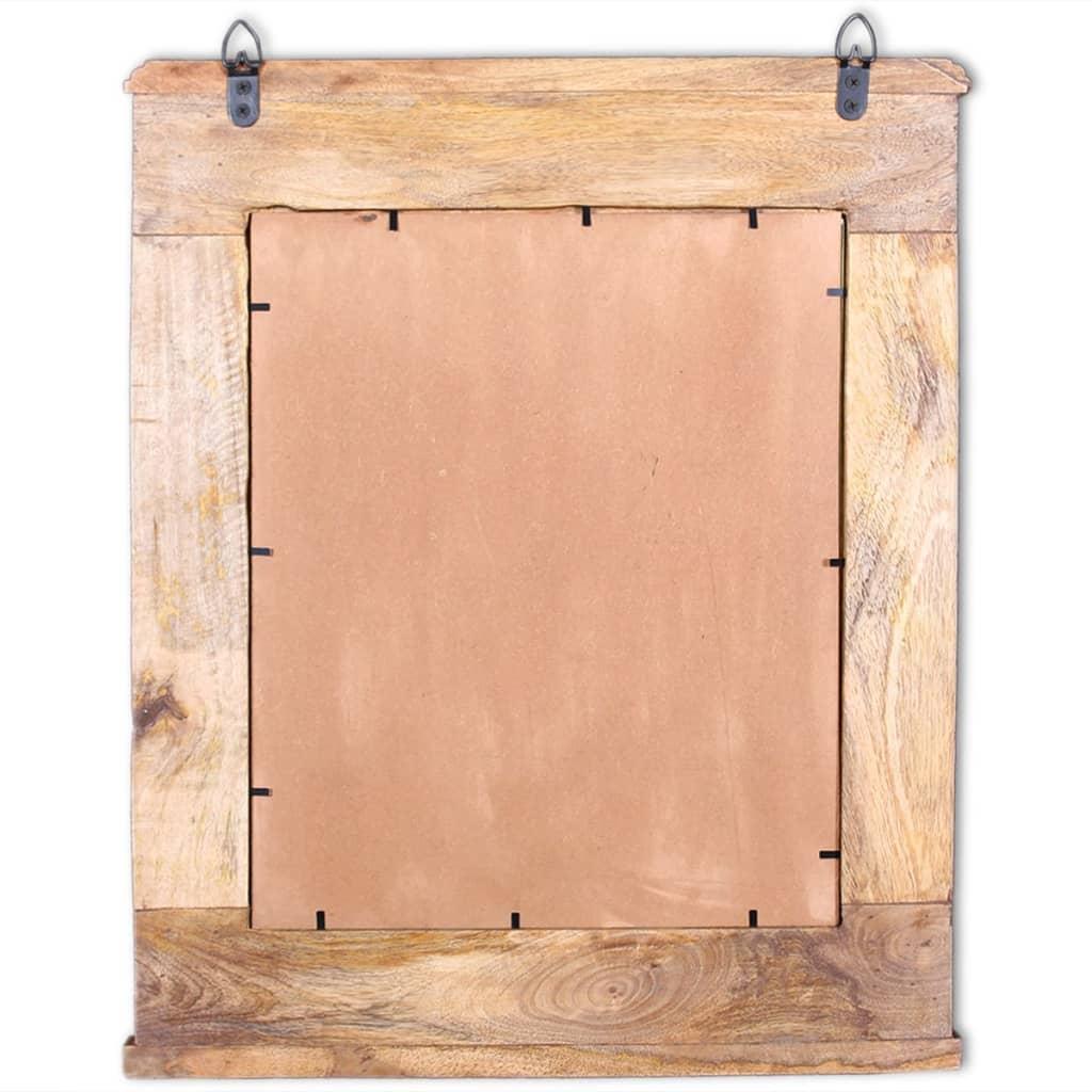 Acheter vidaxl meuble de salle de bain avec miroir bois for Meuble salle de bain bois massif pas cher