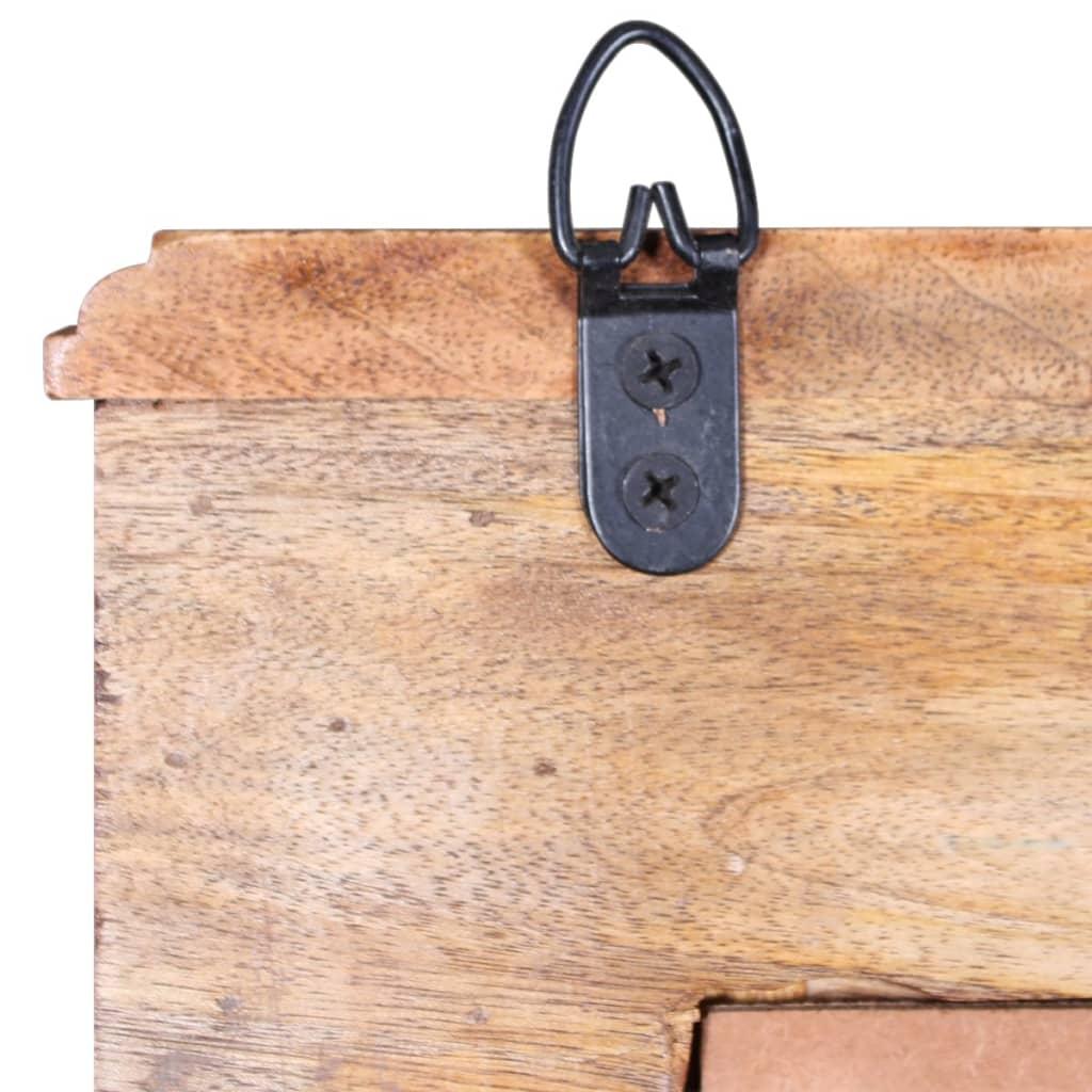 Vidaxl bathroom vanity cabinet with mirror solid mango wood - Solid wood bathroom wall cabinet ...