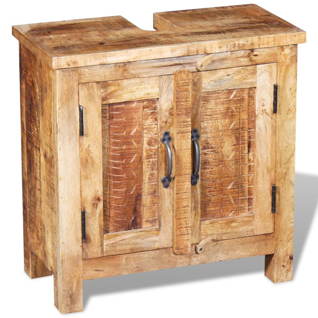 acheter vidaxl meuble de salle de bain avec miroir bois. Black Bedroom Furniture Sets. Home Design Ideas