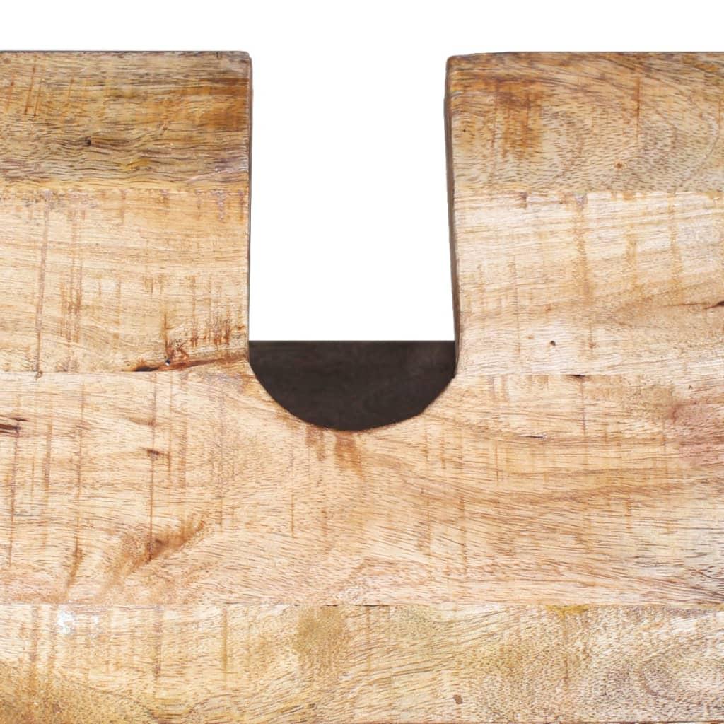 Acheter vidaxl meuble toilette miroir et 2 armoires for Meuble toilette bois